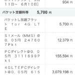 スマホ通信料、ひと月で300万円超えました(^◇^;)