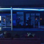 青い展望台で…!