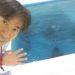 台風の日はプールでレッスンなう!